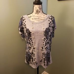 Express top with flower decorations